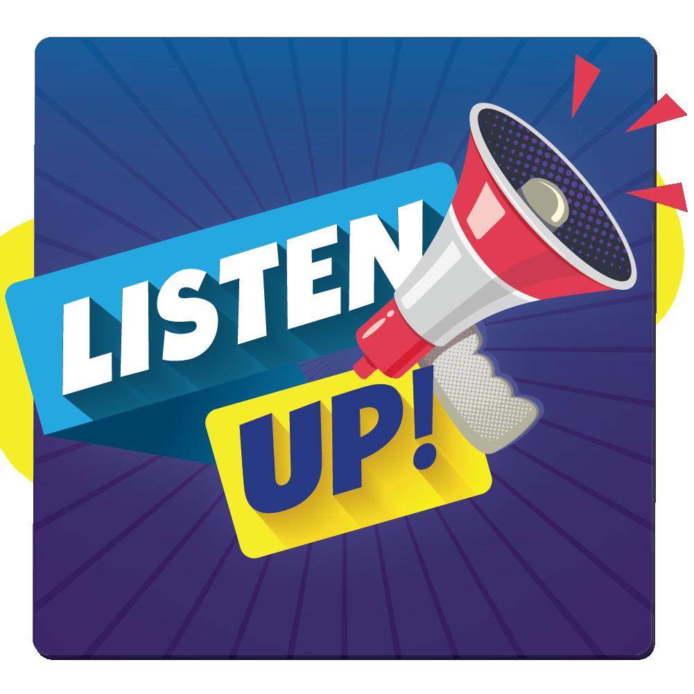Listen Up! logo